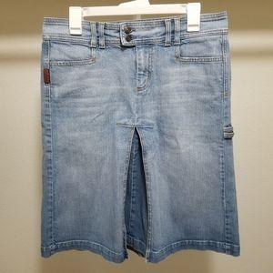 7 For All Mankind 30 Denim Skirt Knee Length Jean